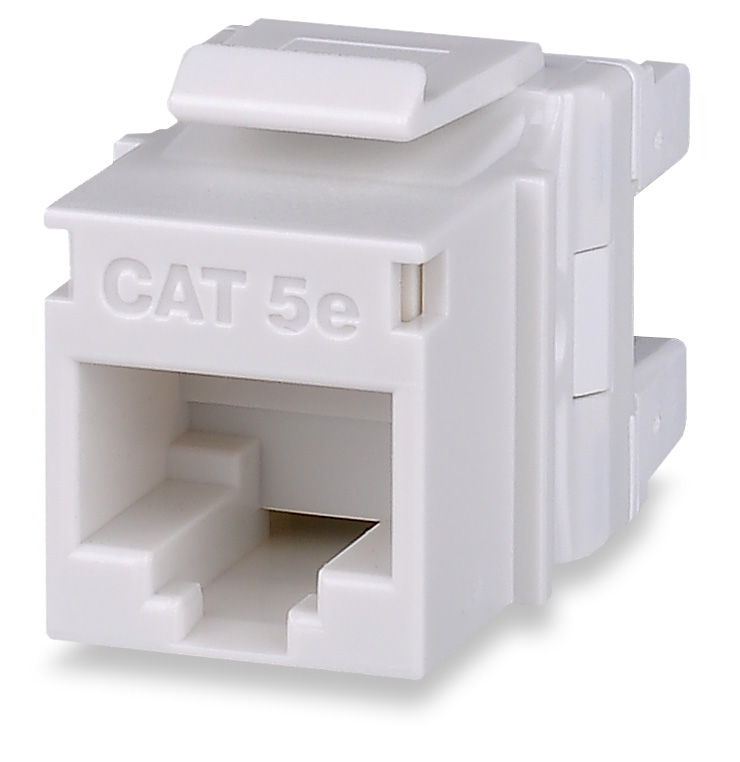 SGM KJ458MT-C5E-WH SGM MODULE CAT5E WHITE T568A/B HIGH-DENSITY KEYSTONE JACK