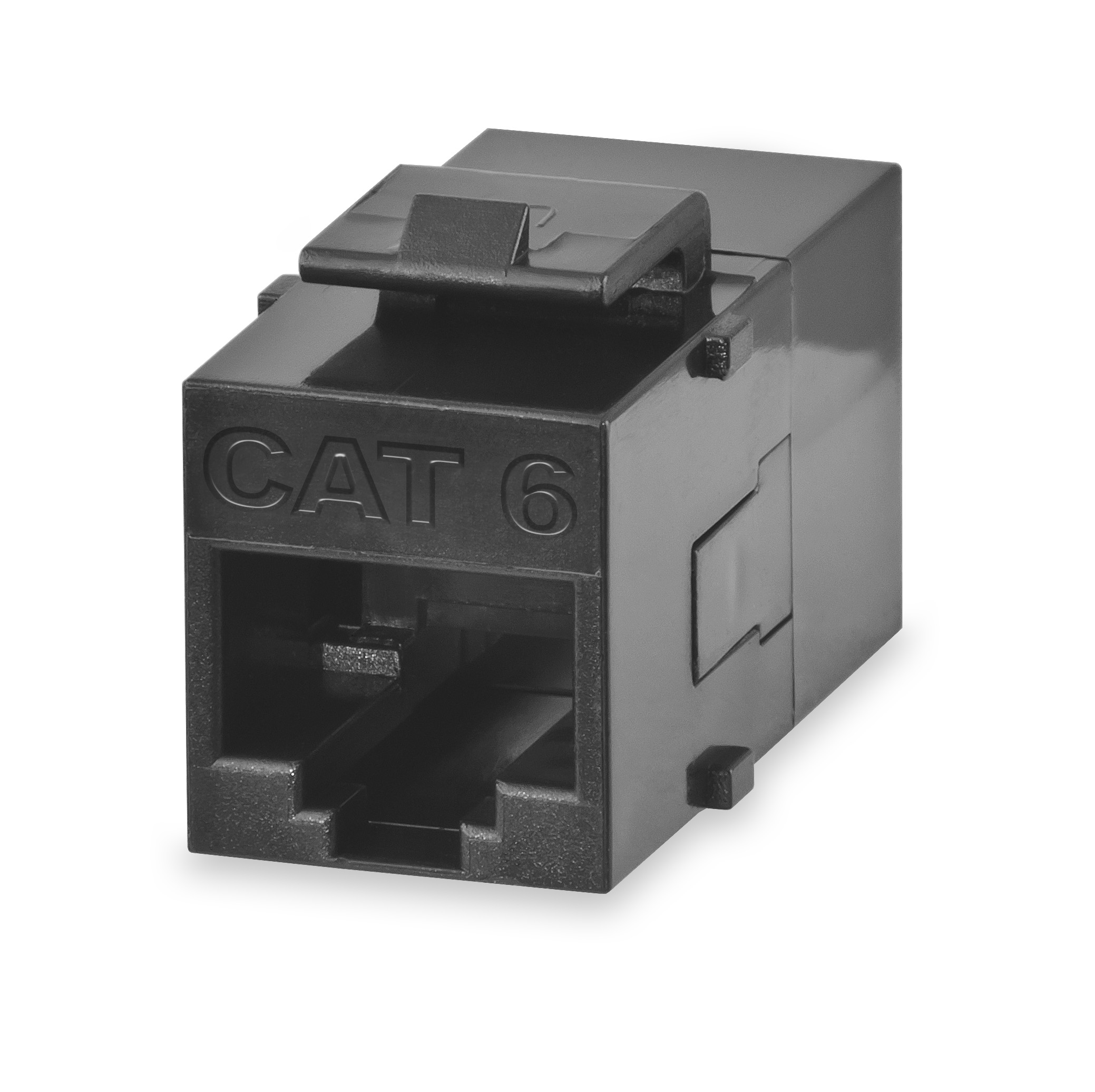 SGM KRJ45/6S SGM CAT6 PANEL MOUNT FEED-THRU COUPLER BLACK