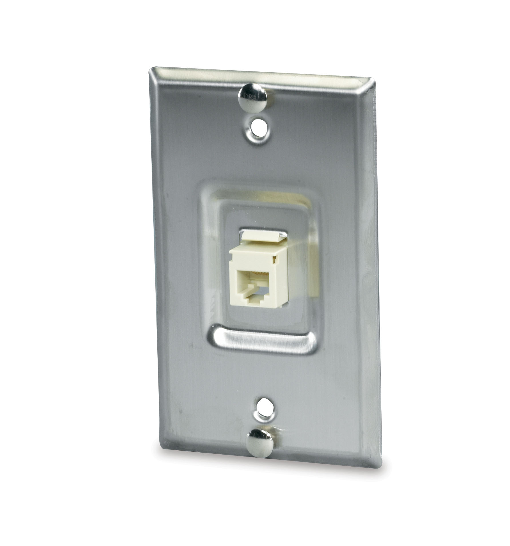 SGM SSKF-1P SGM 1-PORT STAINLESS WALL PHONE PLATE